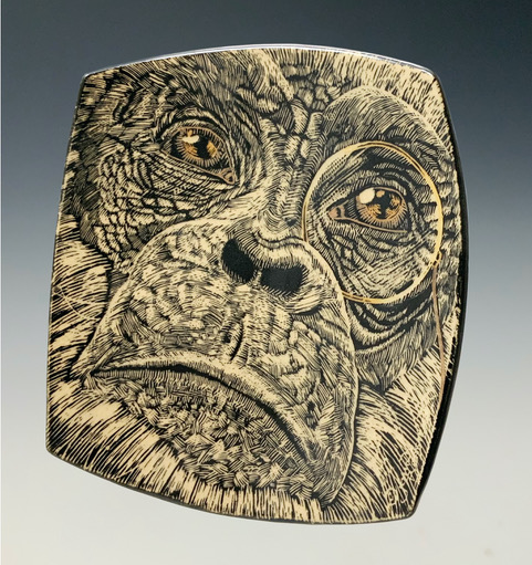 Specialty Small Monkey Platter side view