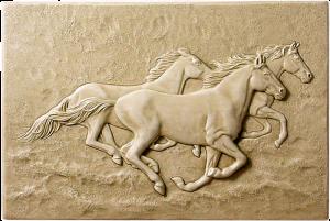 "W 47 Running Horses 6""x9"""