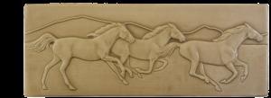 """W 78 Running Horses Border 3""""x8"""""""