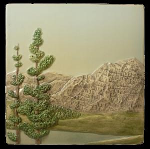 "N 60 - Mountain Scene A 6""x6"""