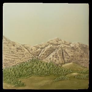 """N 62 - Mountain Scene C 6""""x6"""""""