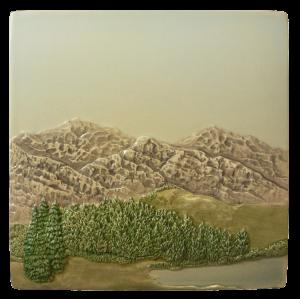"N 63 - Mountain Scene D 6""x6"""