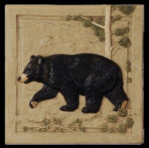 """N 02 - Black Bear Left 6""""x6"""""""