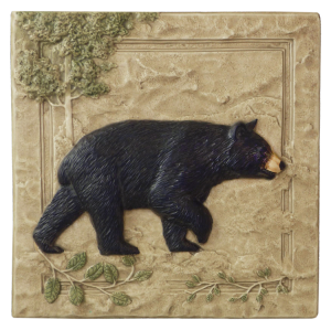 "N 02 - Black Bear Right 6""x6"""