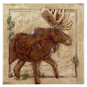 "N 04 - Moose Right 6""x6"""