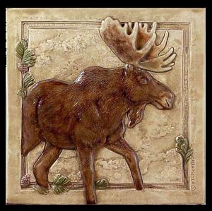 "N 03 - Moose Right 6""x6"""